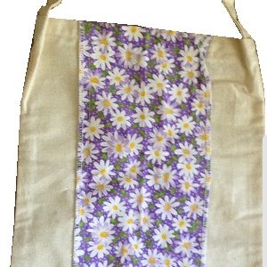 Made in Australia by a small ethical business Use as: Tote, Library, Shopping, Classic, Retro, Child, Adult Dimensions: Medium. approx Height: 31.5 cms x Width: 23.5cms Handle Length: 35cms Choosing to make a Difference: Choosing sustainable, reuseable materials rather than plastic = less carbon footprint.
