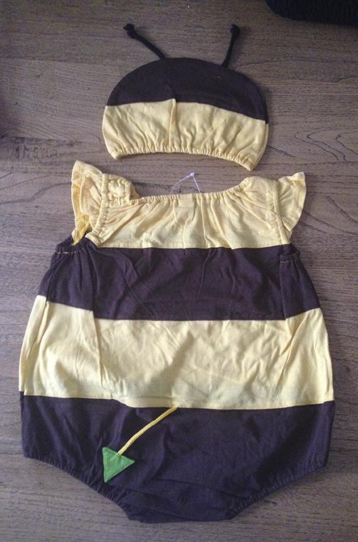 Bee Romper suit, back