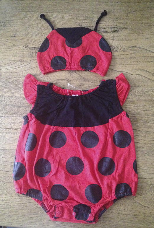Ladybird Romper suit and Beanie